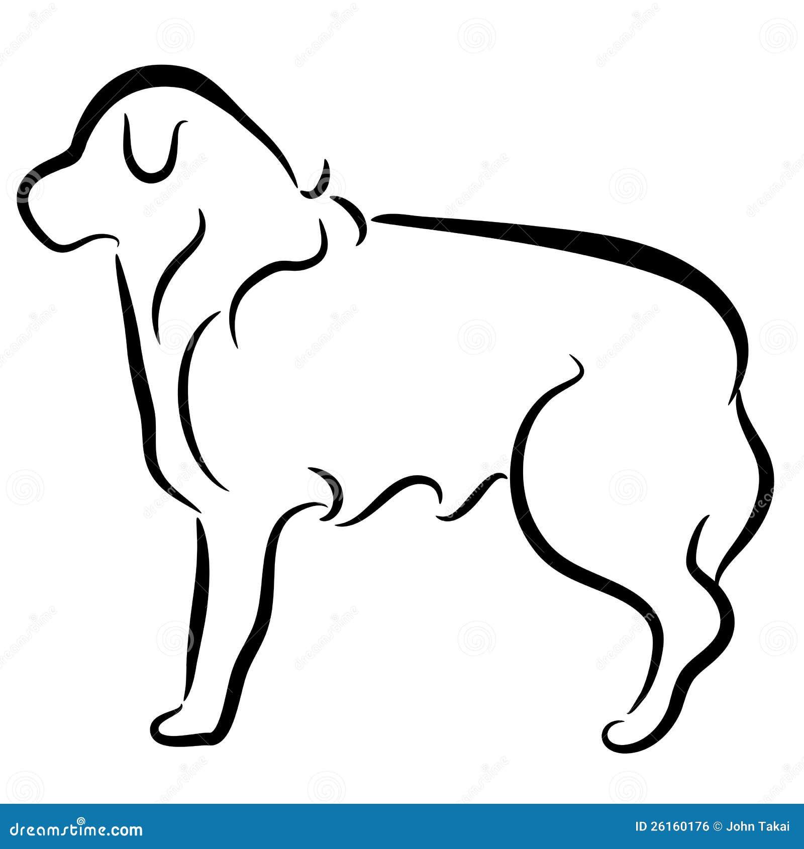 Immagine di un profilo elegante astratto del cane del collie di bordo