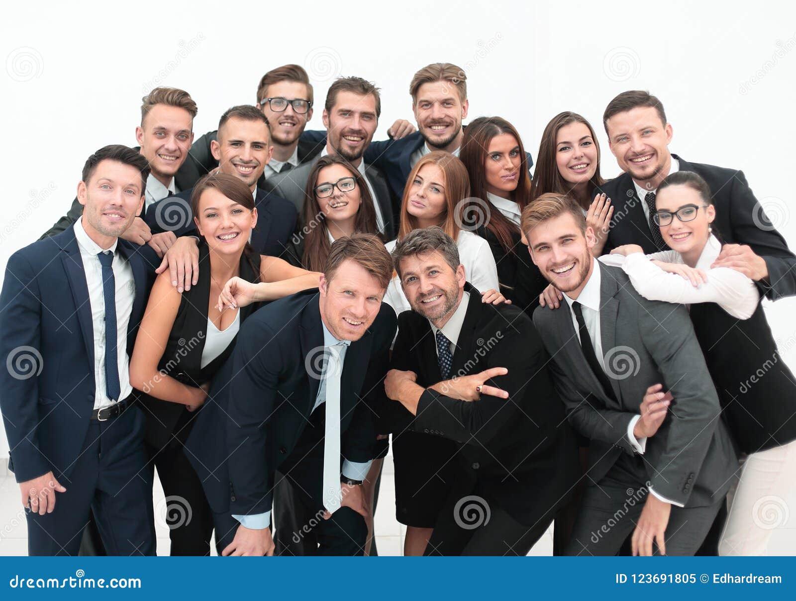 Profissional do retrato uma grande equipe do negócio