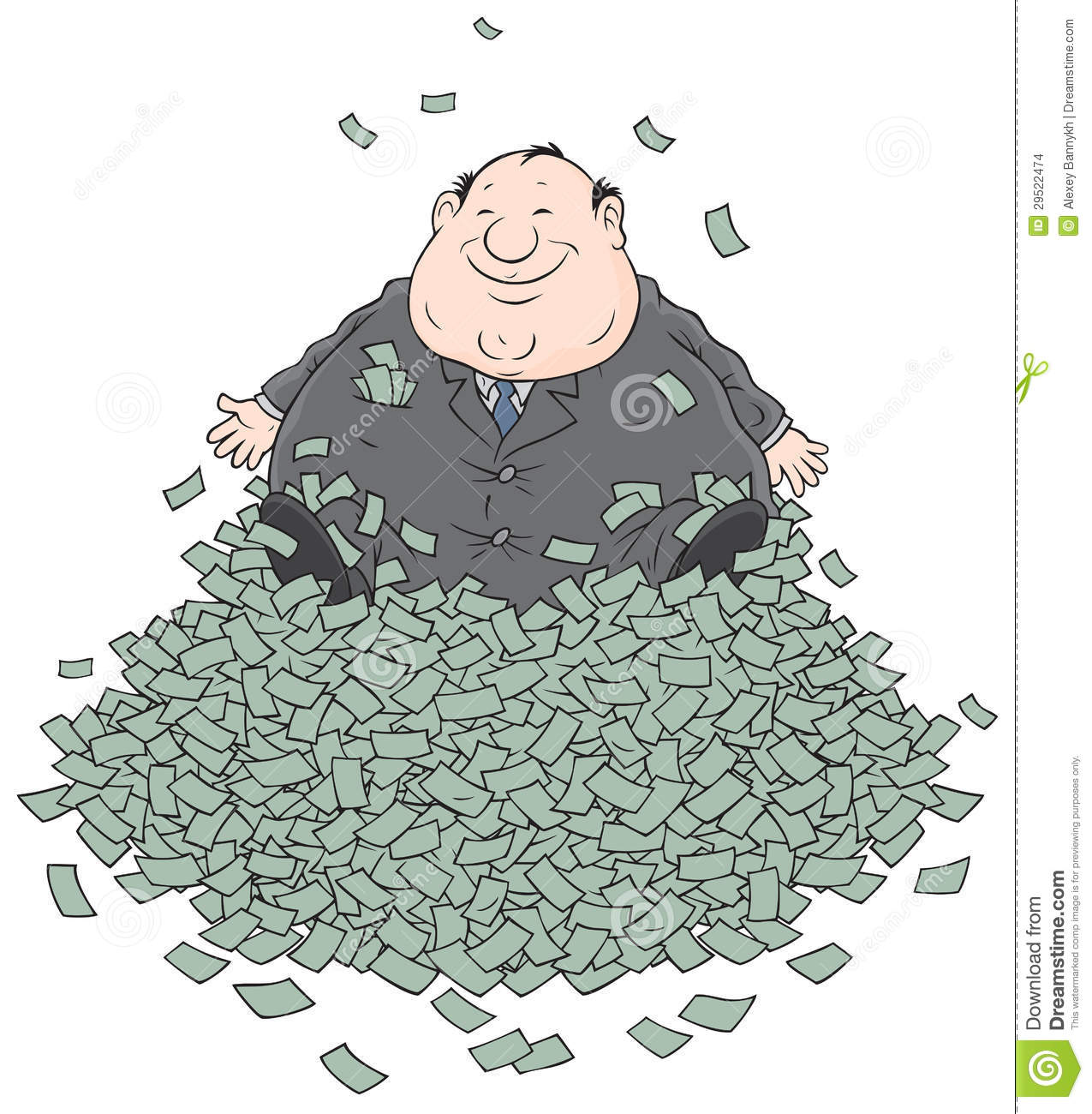 fat man with money