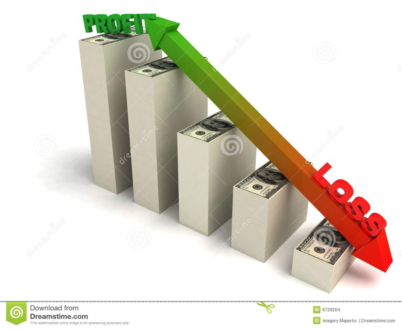 profit and loss graph stock illustration illustration of loss 6729204