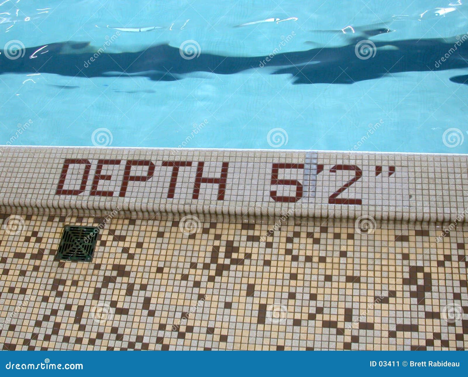 Profondeur : 5 pieds 2, regroupement de bleu?