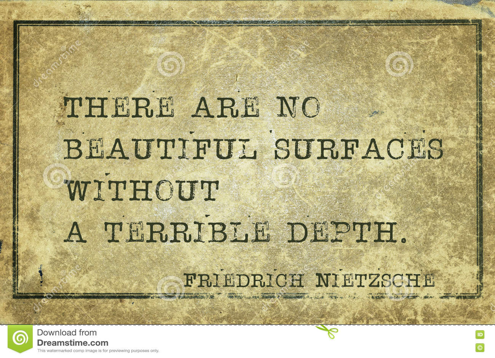 Profondeur Terrible Nietzsche Image Stock Image Du Vert