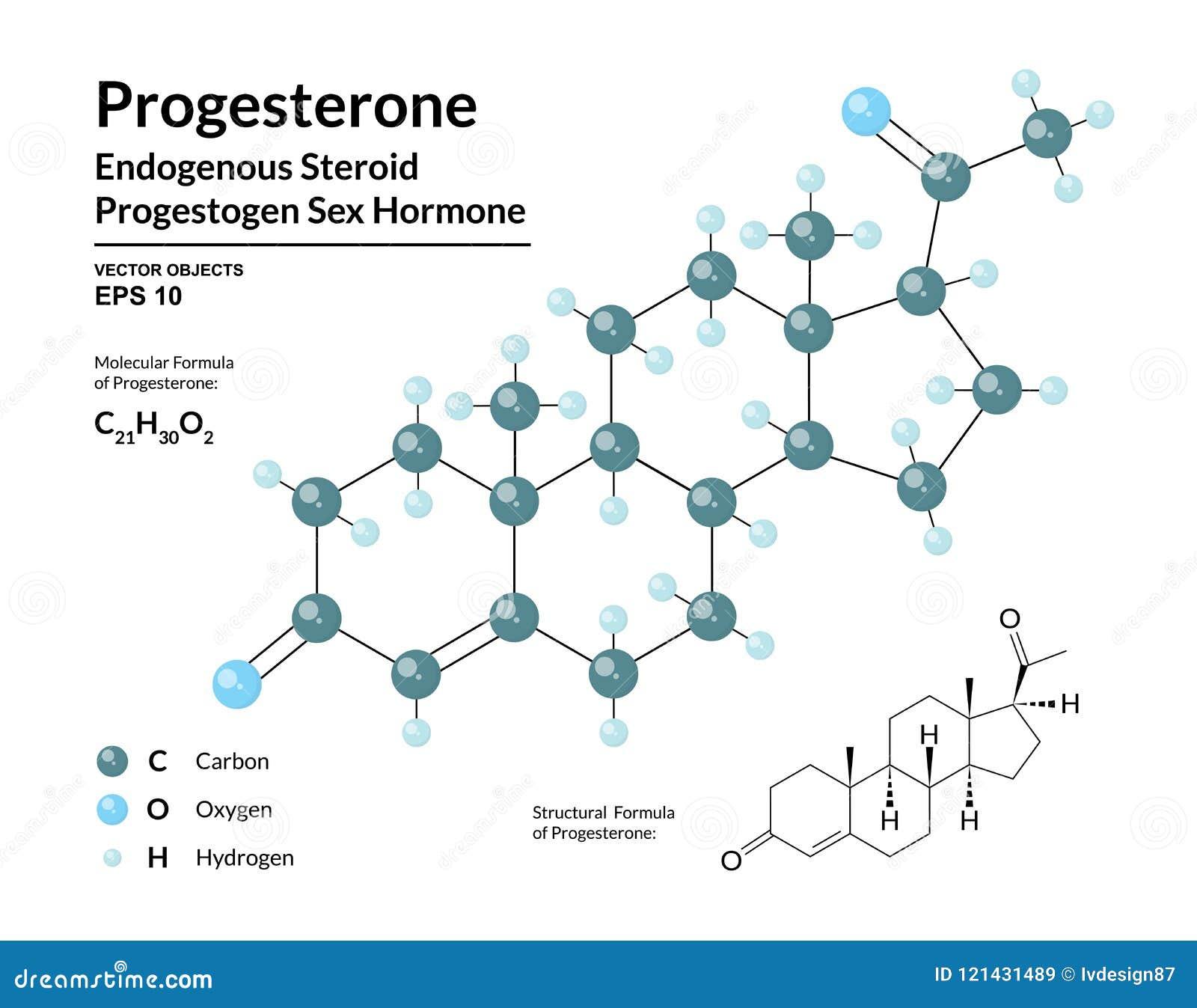 Progesterona Hormona De Sexo Del Progestógeno Esteroide