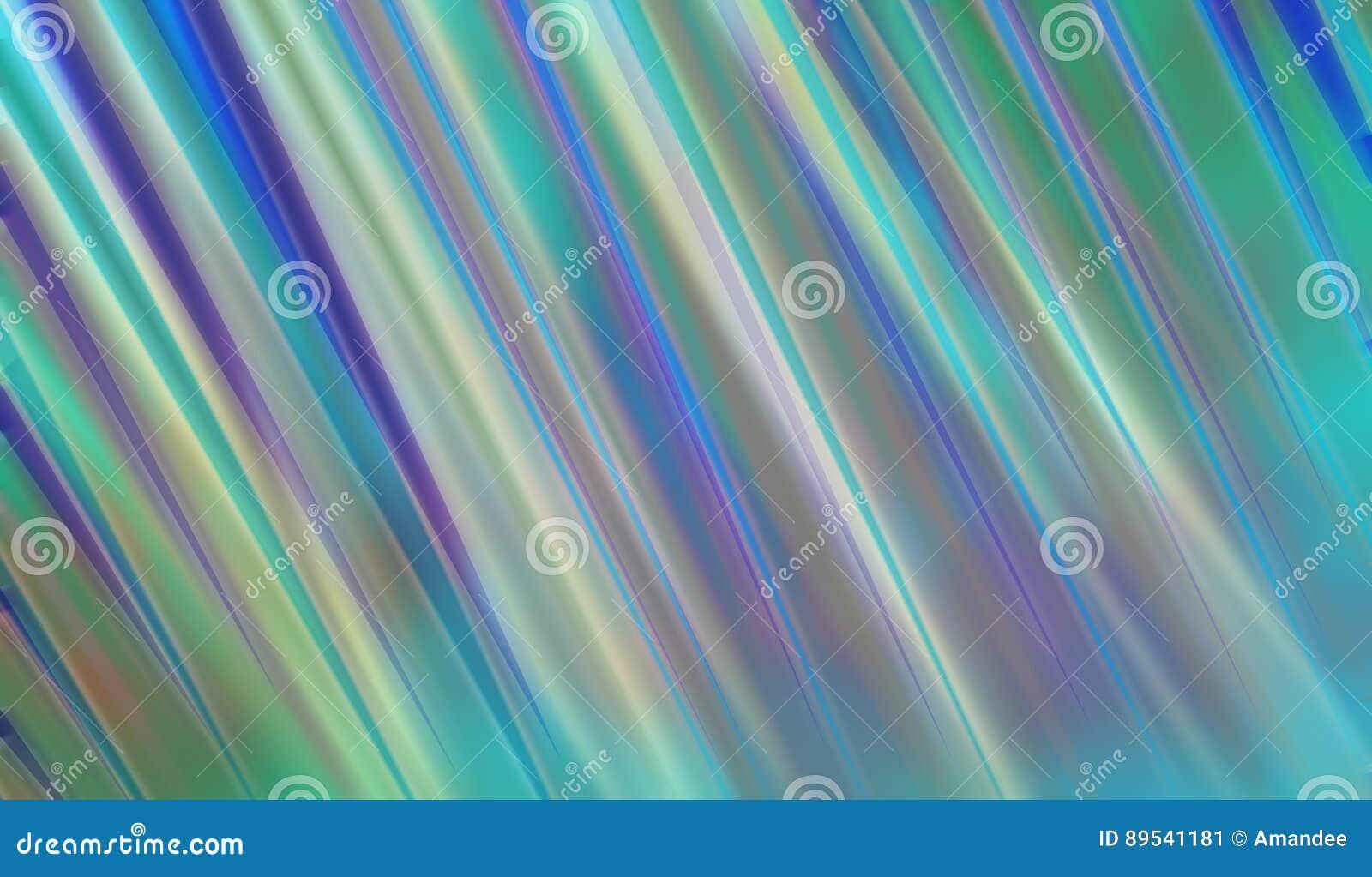 Progettazione astratta di stile del fondo di arte moderna con le bande vaghe di giallo e della porpora di verde blu