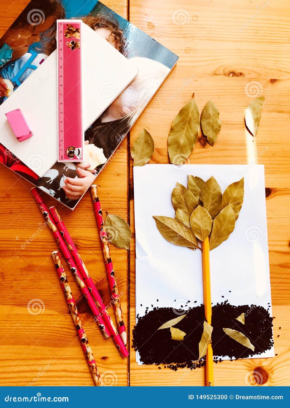 Progettazione, caduta delle foglie, immaginazione, hobby di autunno