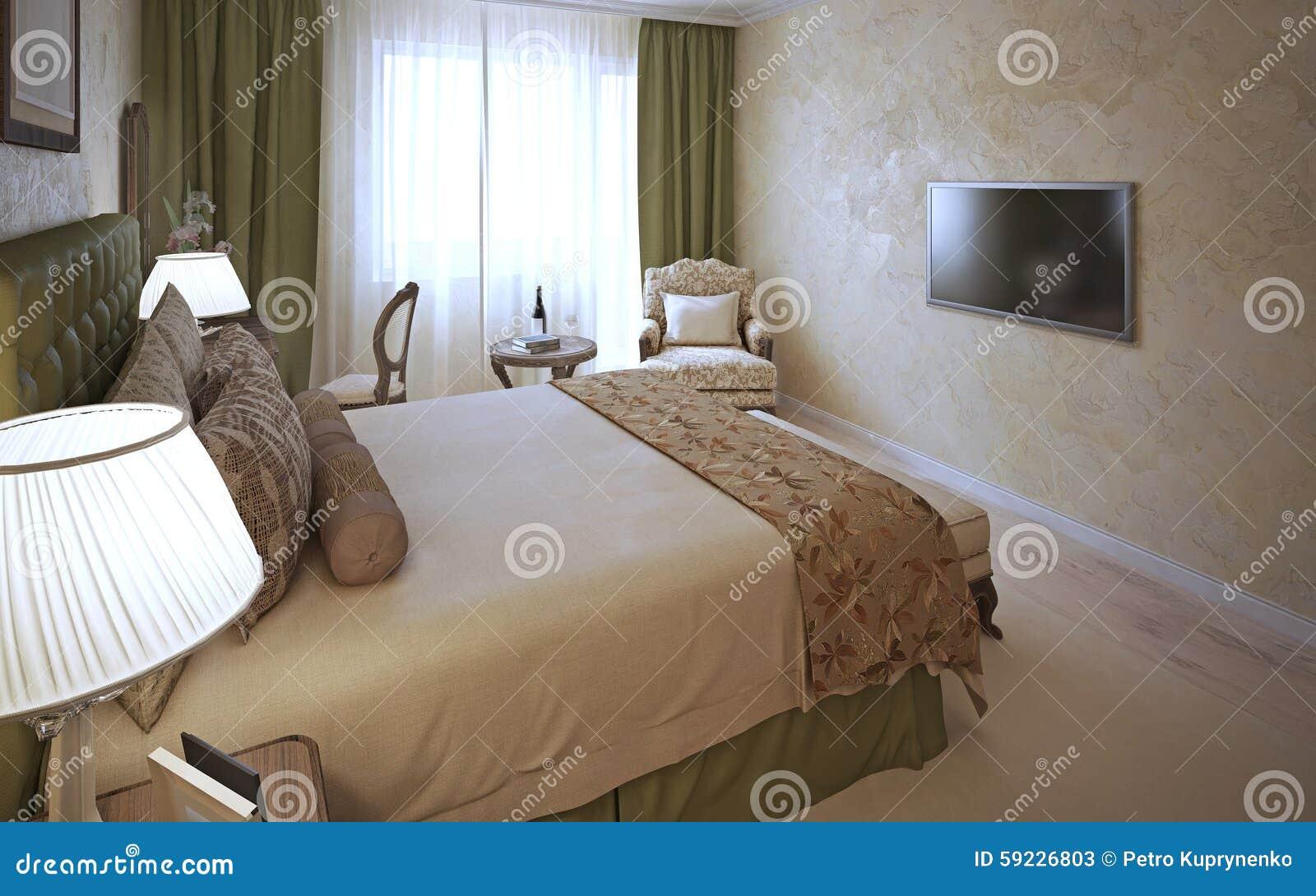 Camera Da Letto Elegante progettazione classica della camera da letto elegante