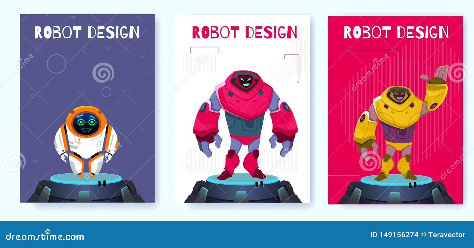 Progettazione creativa del robot di Next Generation del manifesto