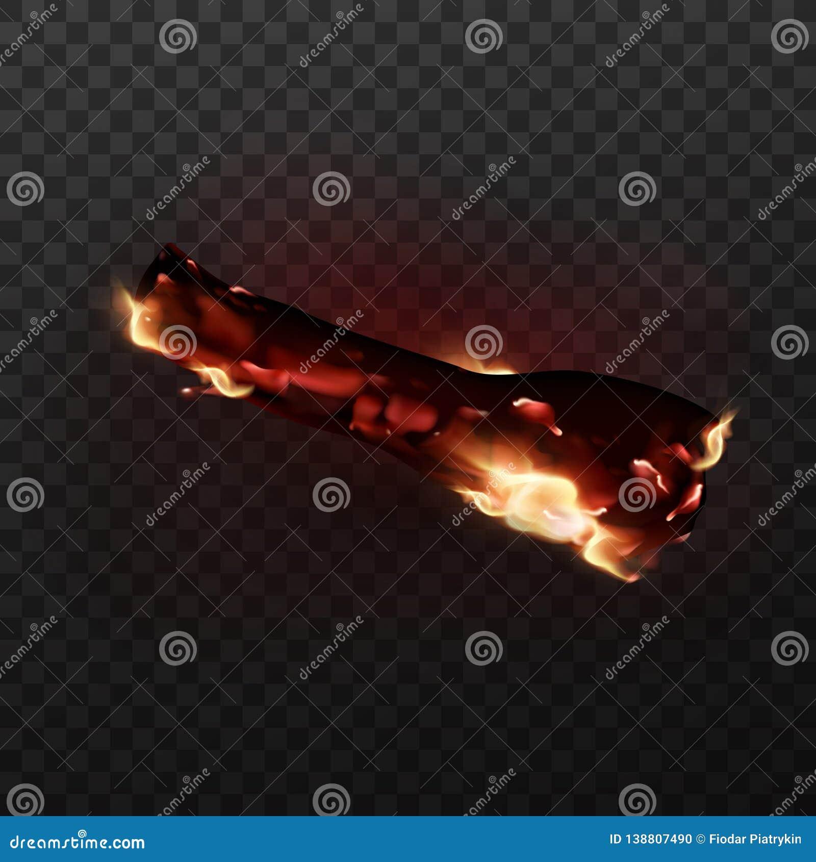 Progettazione del falò d ardore realistico con i carboni e le fiamme del fuoco Illustrazione di vettore di fuoco di accampamento