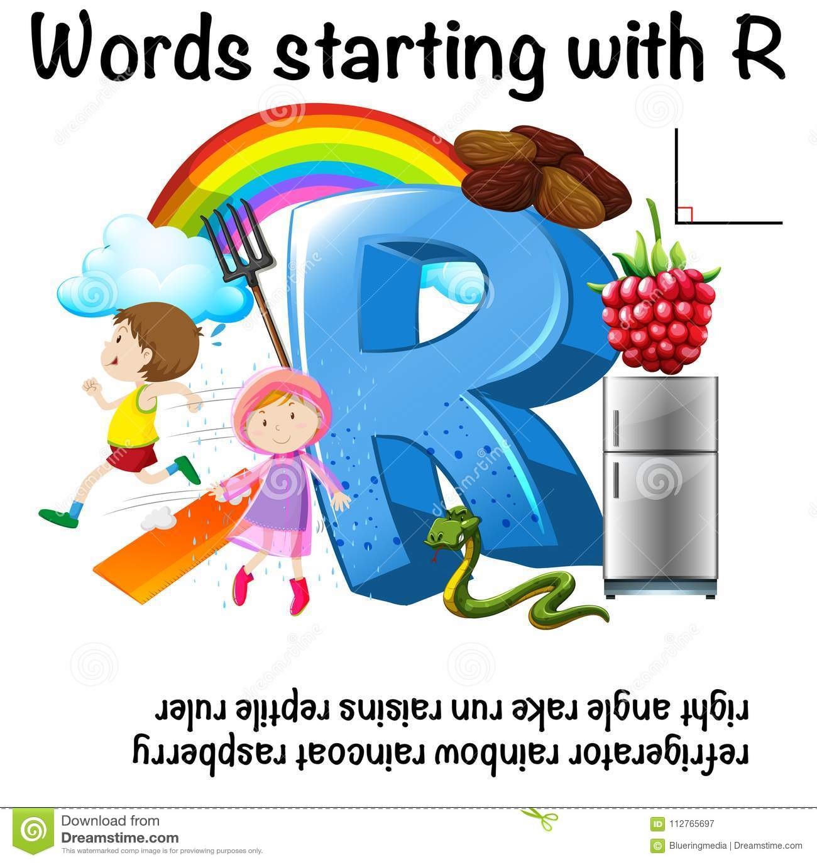 Progettazione del foglio di lavoro per le parole che iniziano con la R