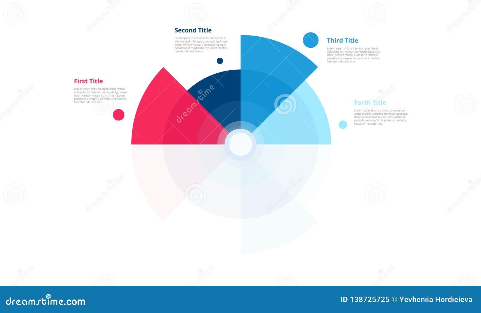 Progettazione del grafico del cerchio di vettore Modello moderno per creare infographics, presentazioni, rapporti, visualizzazion