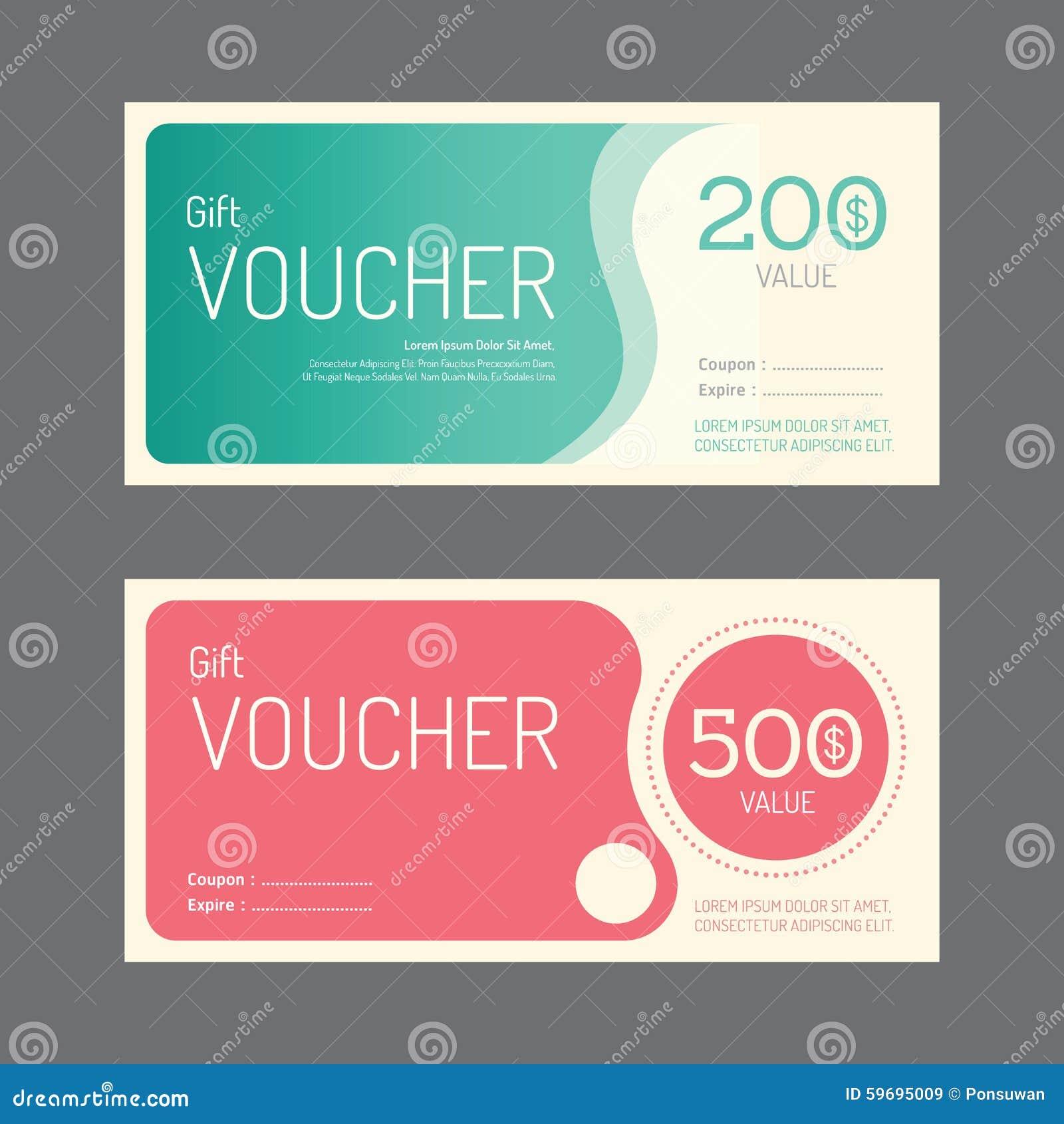 Progettazione del modello del buono del buono di regalo di vettore porta-etichette di carta
