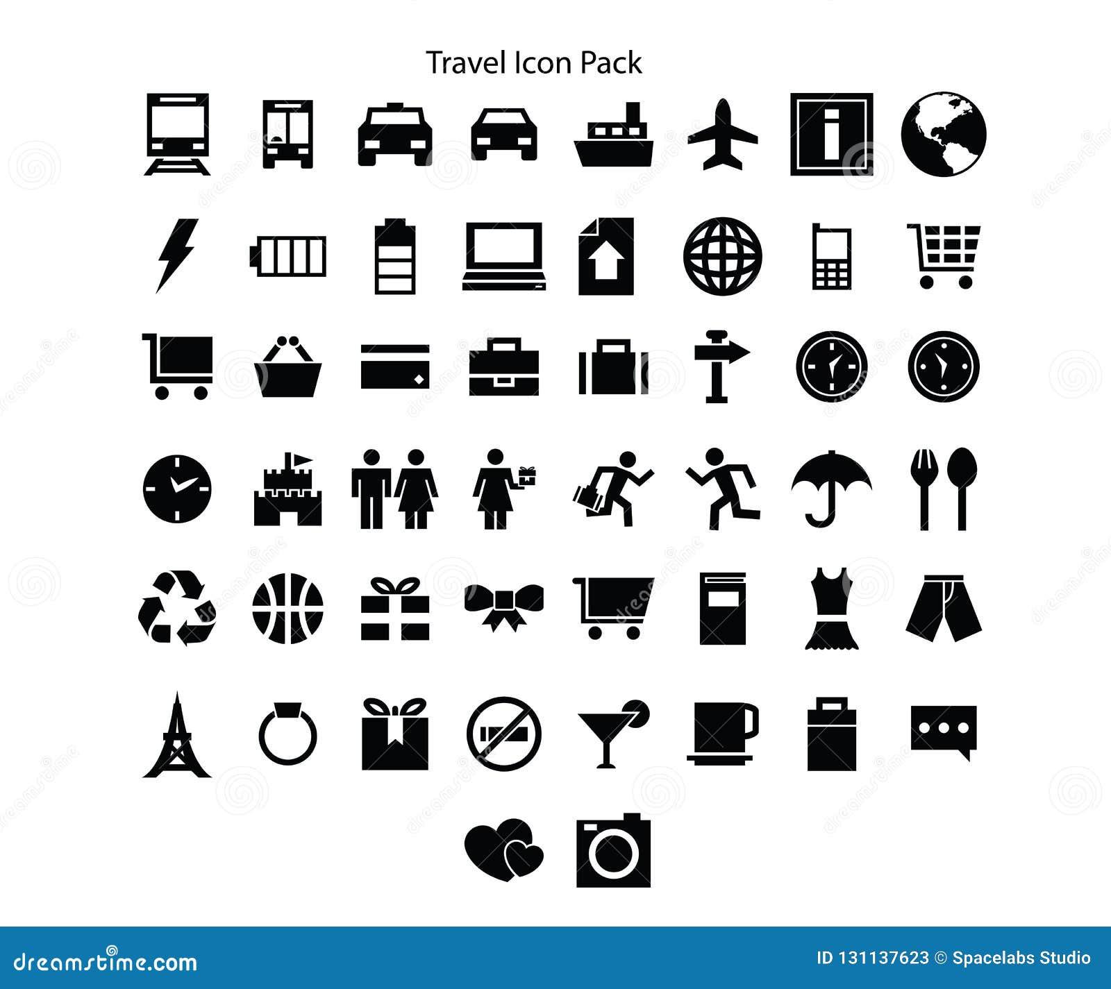 Progettazione del pacchetto dell icona di serie di viaggio