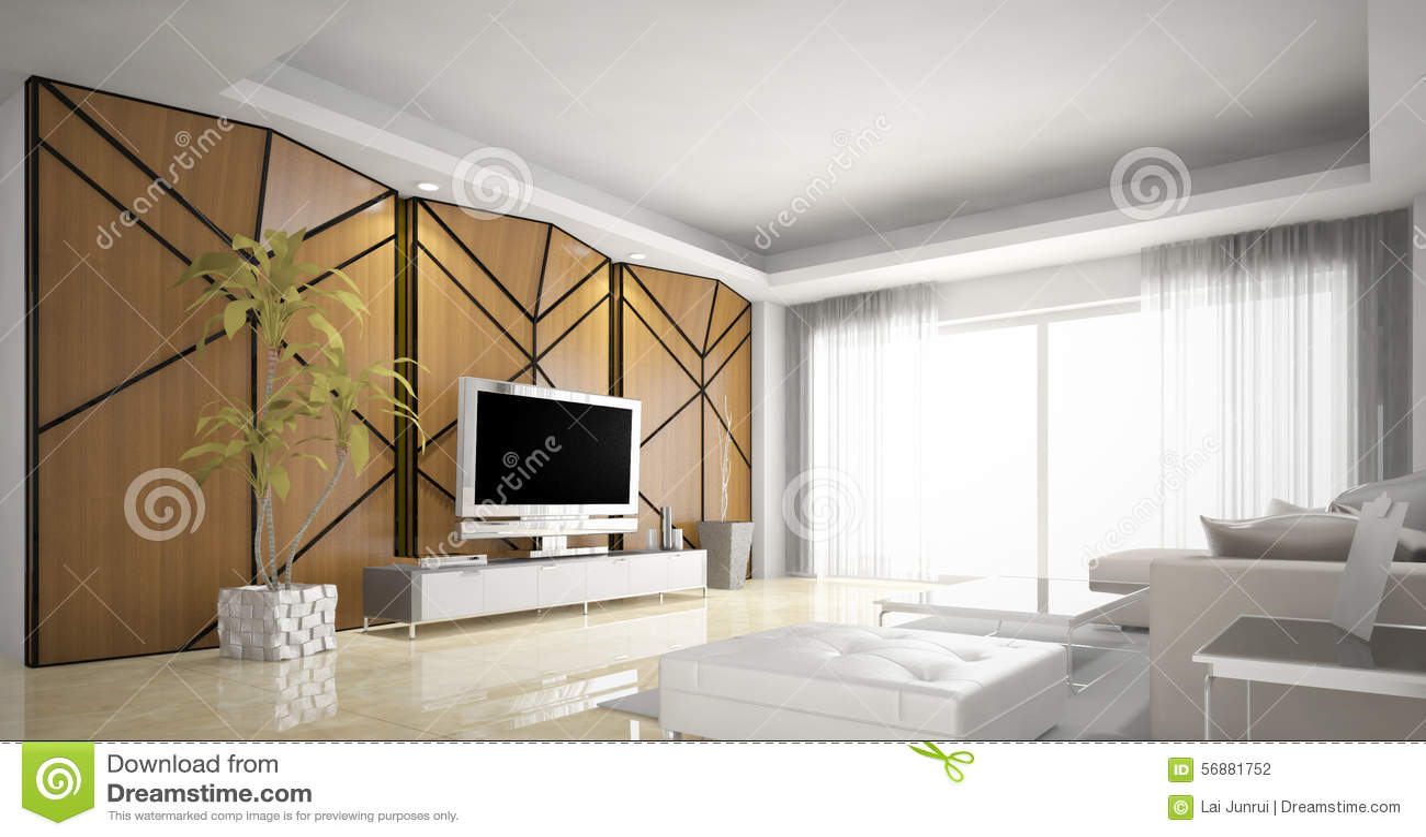 Progettazione del salone, moderna