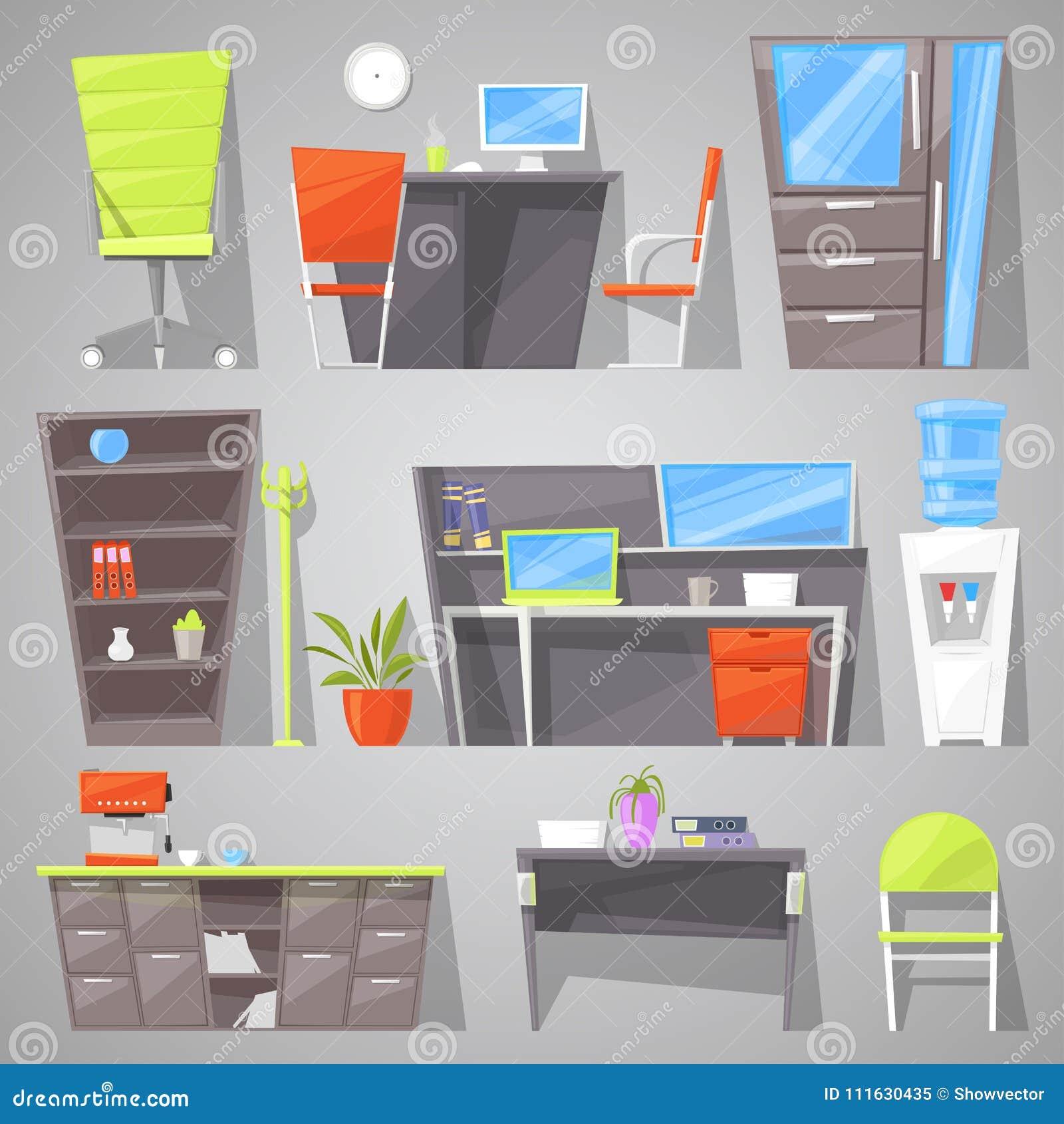Fornitura Arredi Ufficio.Progettazione Dell Arredamento Di Vettore Delle Forniture Di