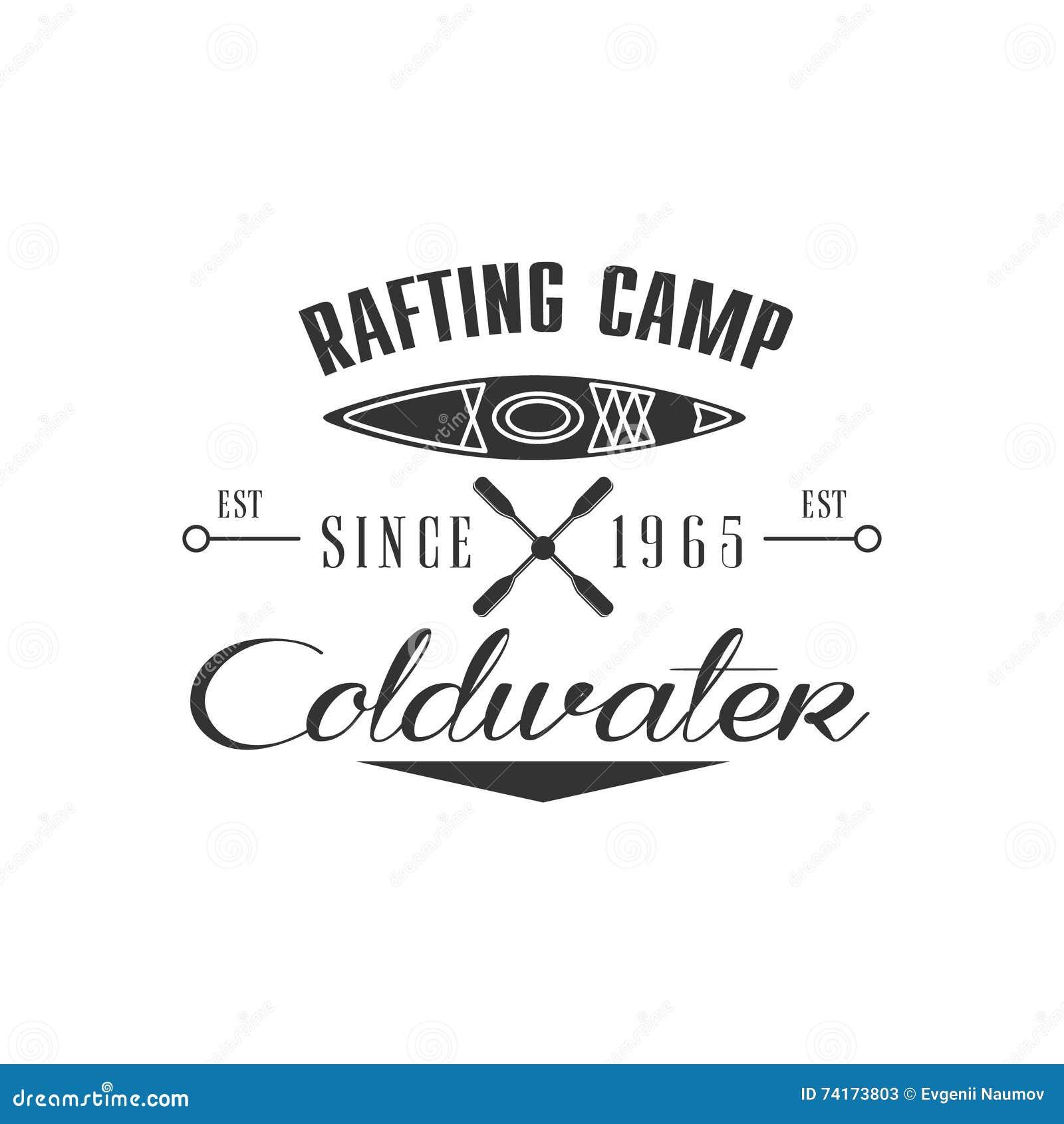 Progettazione dell emblema del campo di rafting