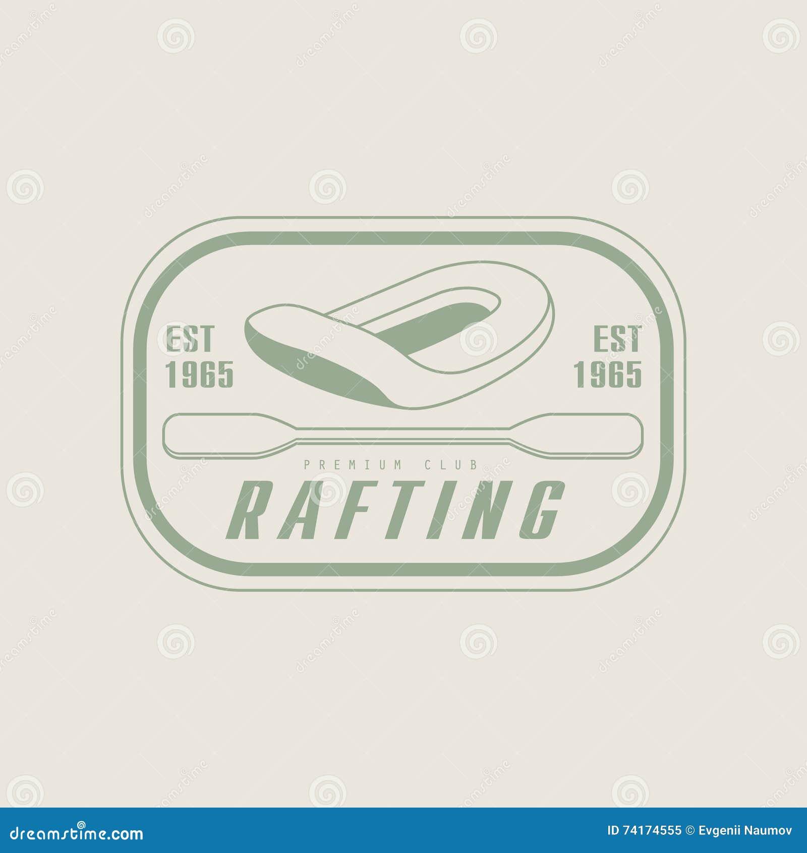 Progettazione dell emblema di rafting