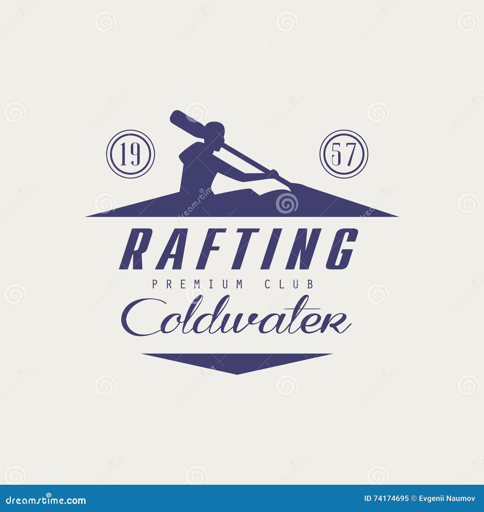 Progettazione dell emblema di rafting di Coldwater