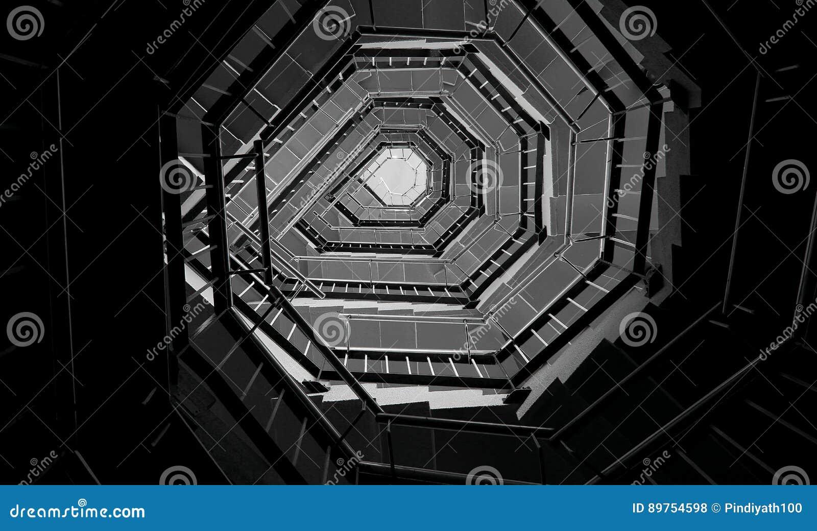 Progettazione Scale A Chiocciola : Progettazione dell estratto della scala a chiocciola fotografia
