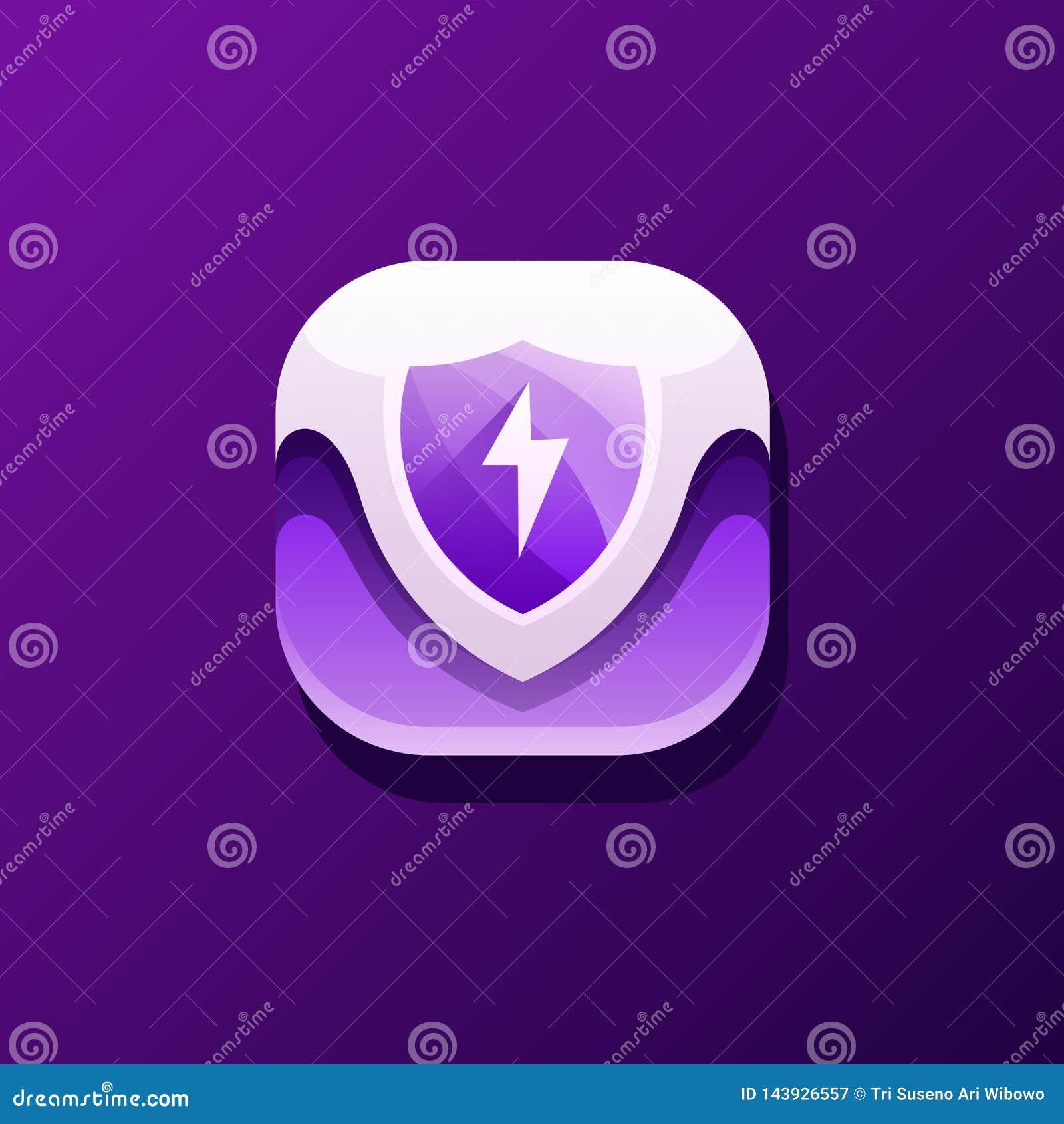 Progettazione dell icona di sicurezza pronta per l uso