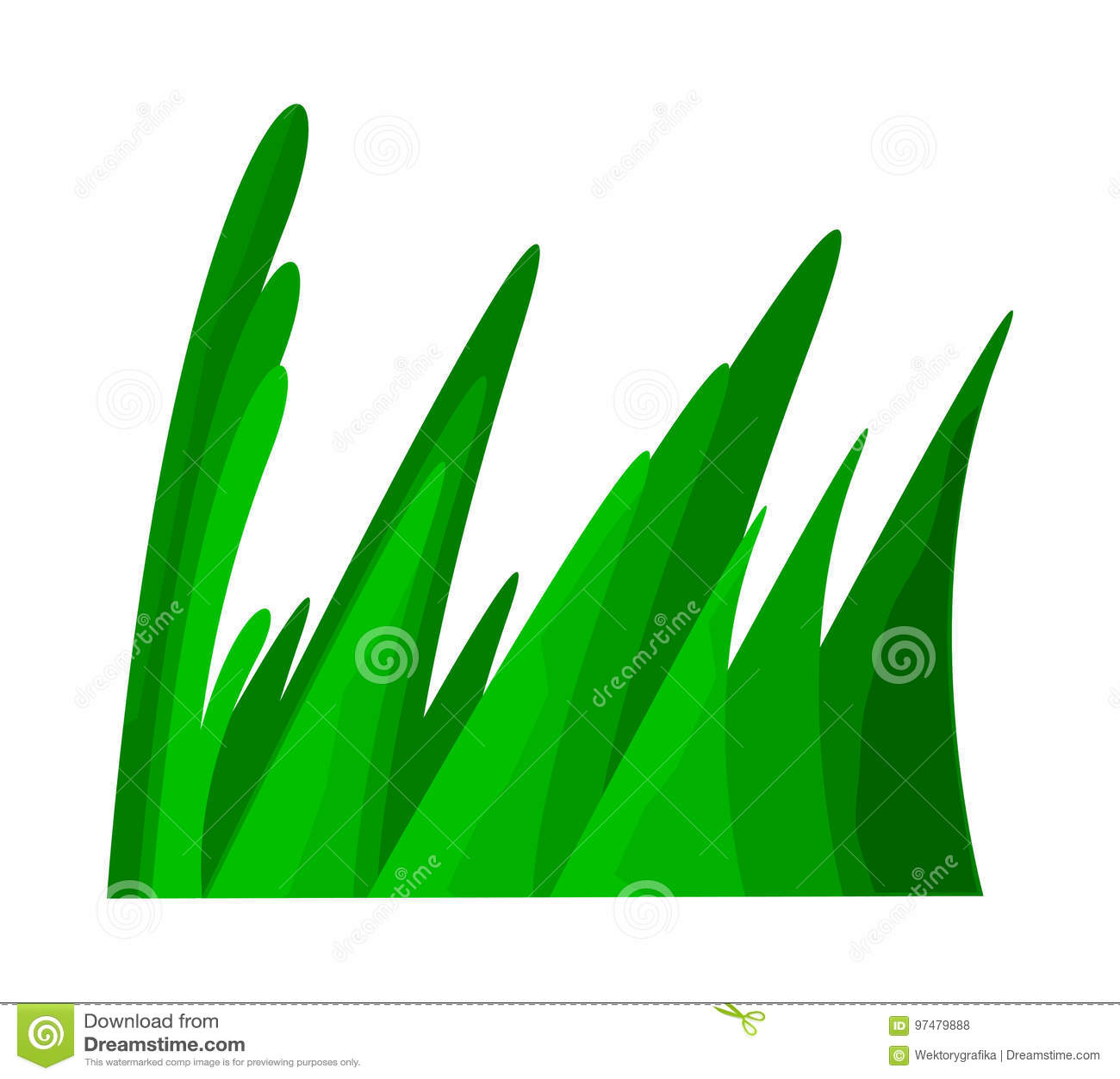 Progettazione dell icona di simbolo di vettore del fumetto dell erba Bella illustrazione