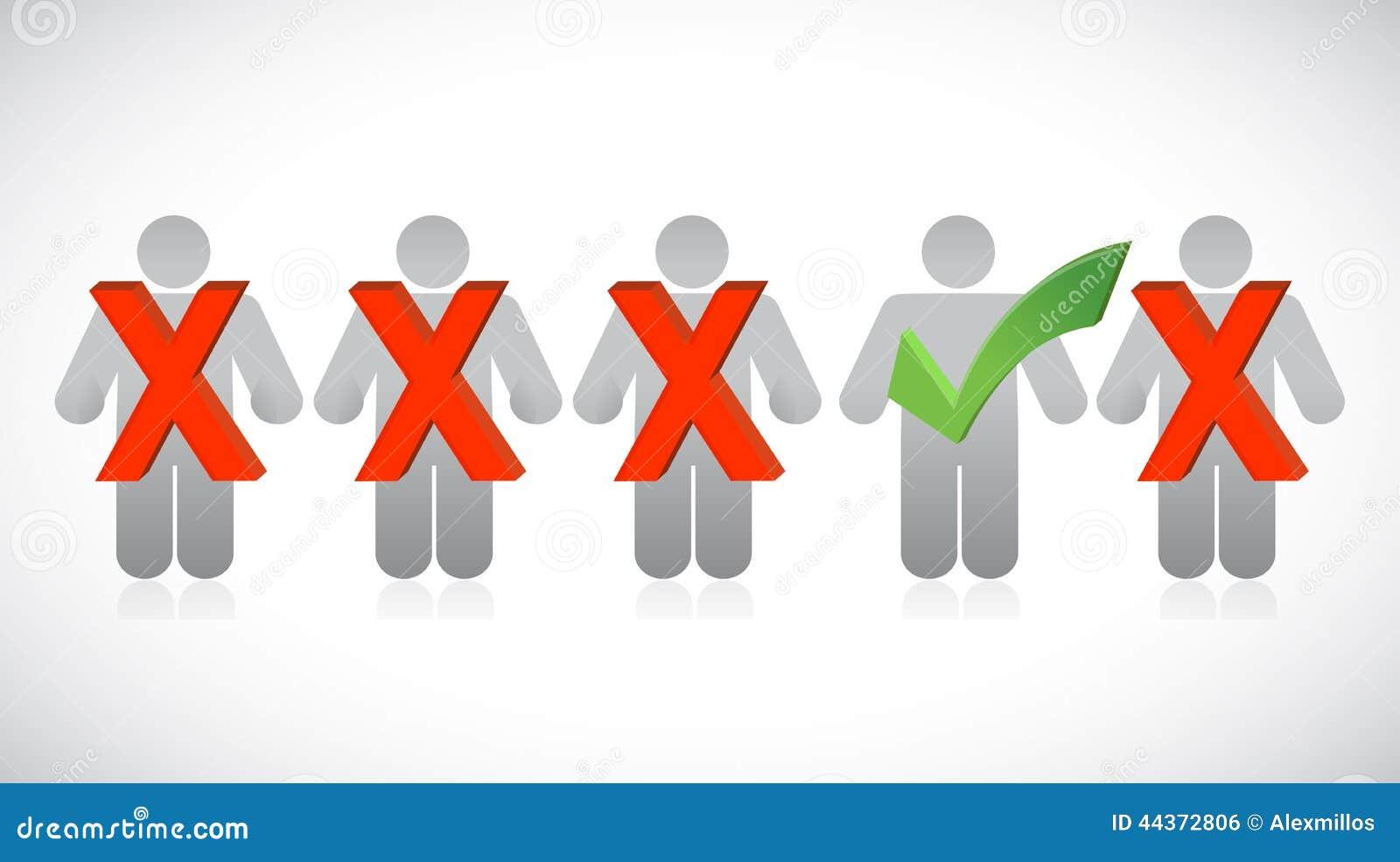 Progettazione dell illustrazione di fila di selezione della gente