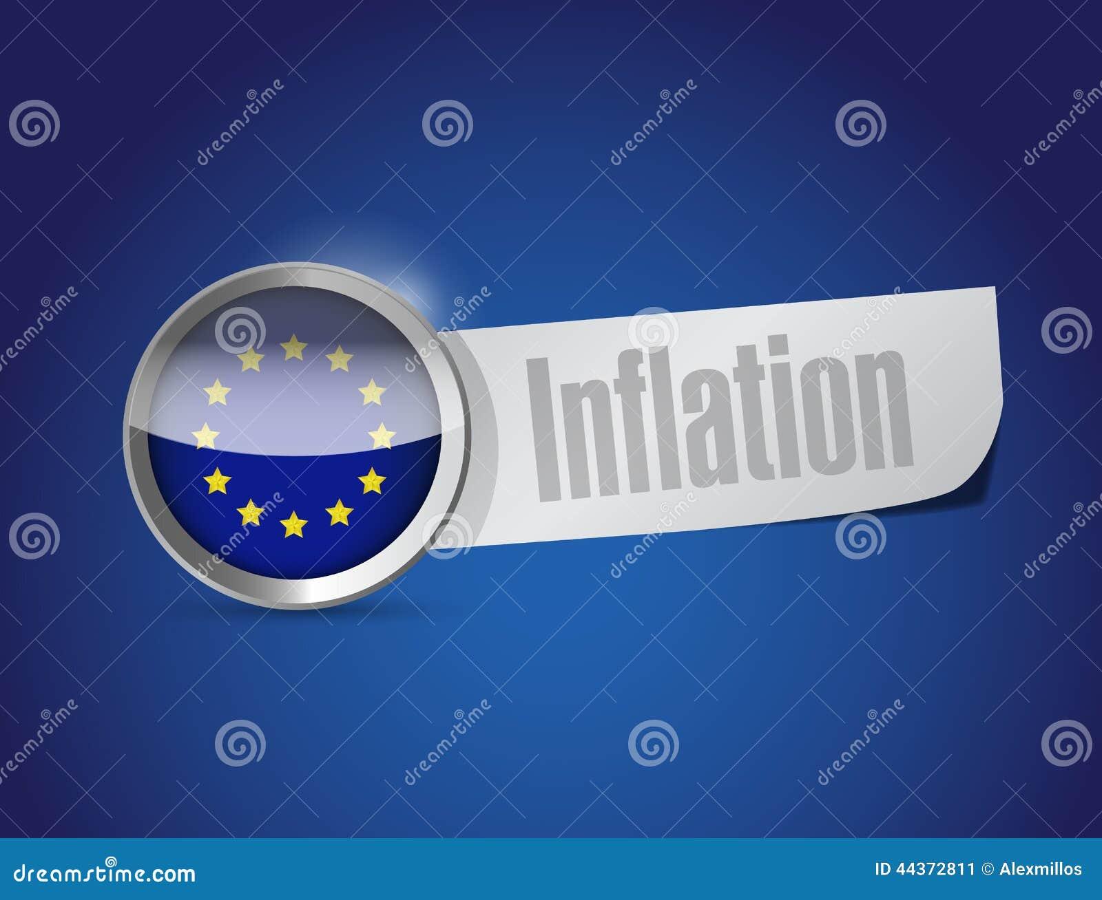 Progettazione dell illustrazione di inflazione dell Unione Europea
