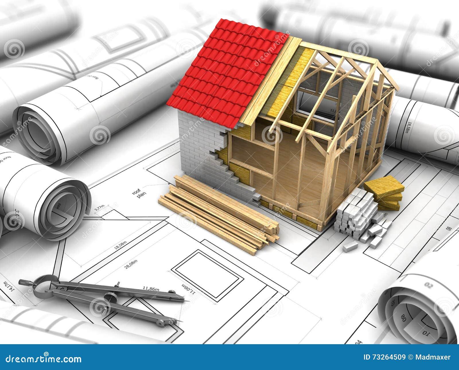 Progettazione della camera illustrazione di stock for Progettazione della costruzione domestica