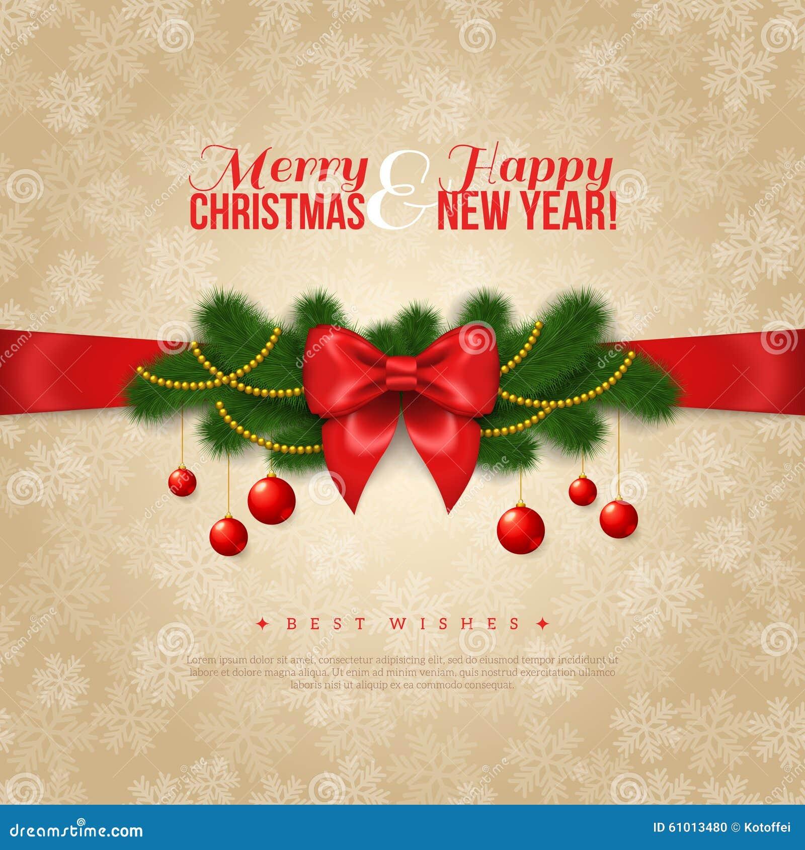 Auguri Di Buon Natale E Buon Anno.Progettazione Della Cartolina D Auguri Di Buon Natale E Del Buon