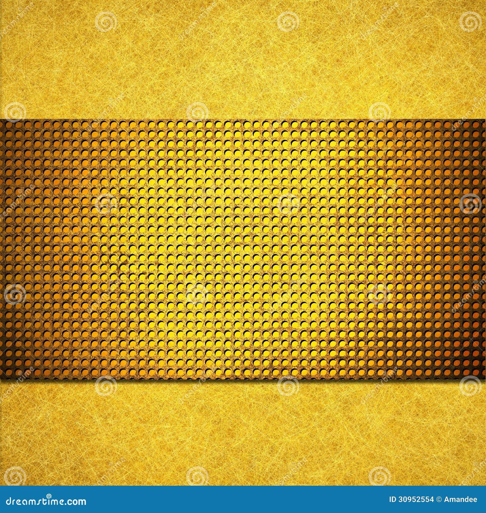 Progettazione della disposizione del fondo dell oro giallo