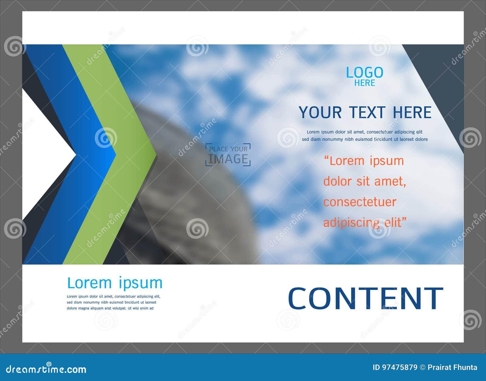 Progettazione della disposizione di presentazione per il modello della copertina di affari
