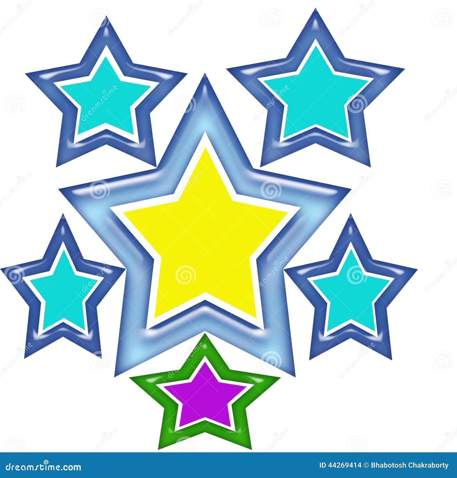 Progettazione della maglietta della stella