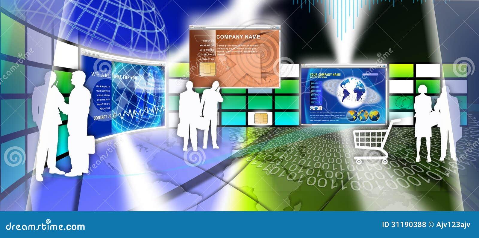 Progettazione della pagina del sito web di tecnologia for Sito web di progettazione della casa