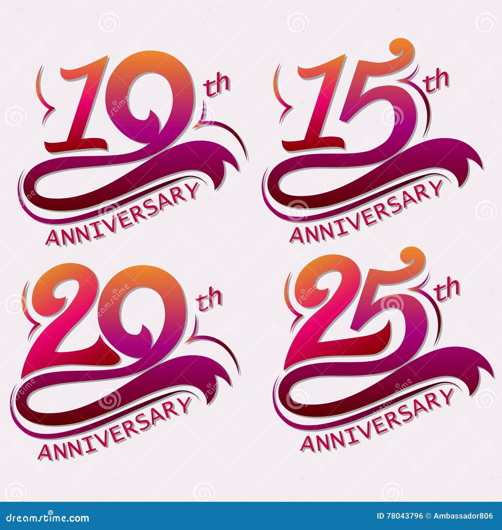 Progettazione di anniversario, segno di celebrazione del modello