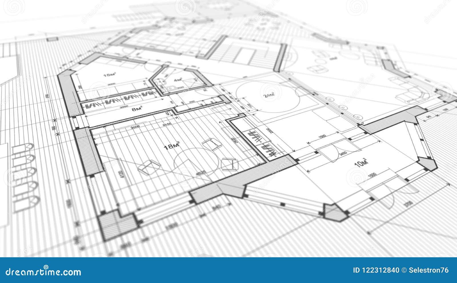 Progettazione di architettura: piano del modello - illustrazione di un MOD di piano