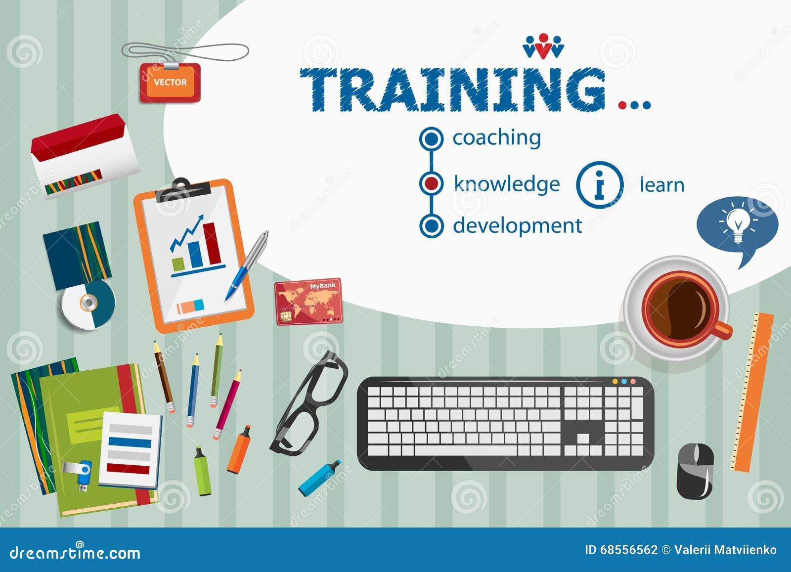 Progettazione di formazione e concetti piani dell illustrazione di progettazione per il busine