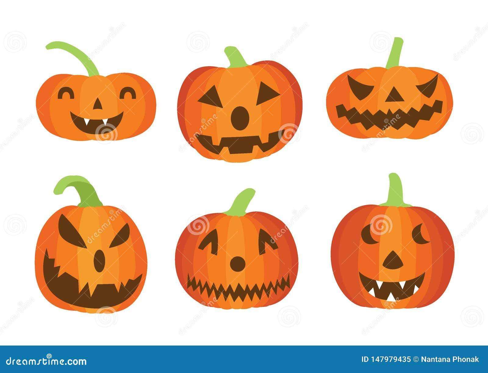 Progettazione di Halloween della zucca su fondo bianco