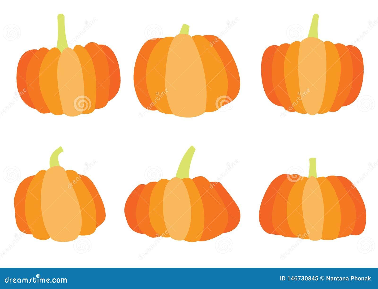 Progettazione di Halloween della zucca sul vettore bianco dell illustrazione del fondo