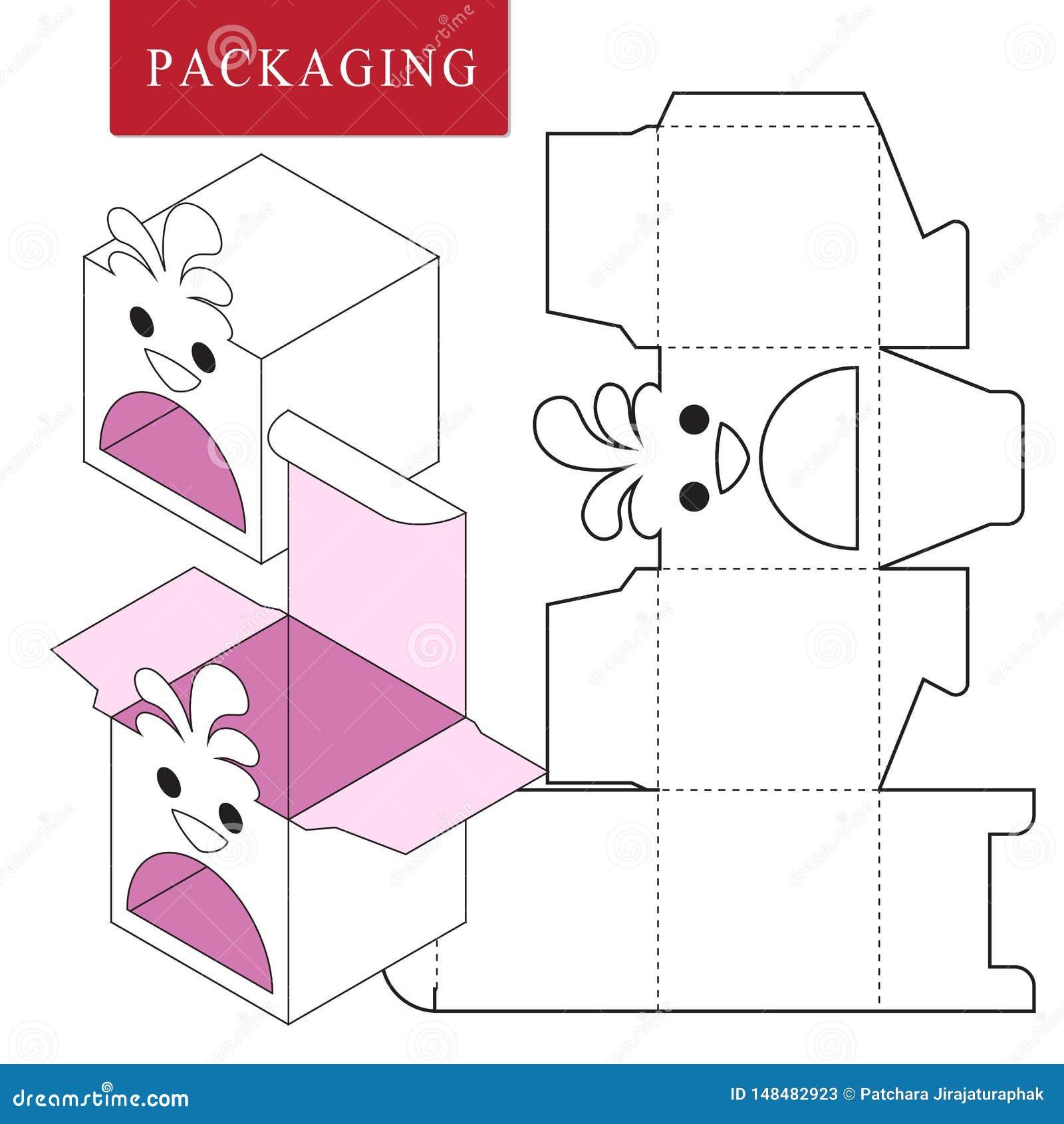 Progettazione di imballaggio Illustrazione di vettore della scatola