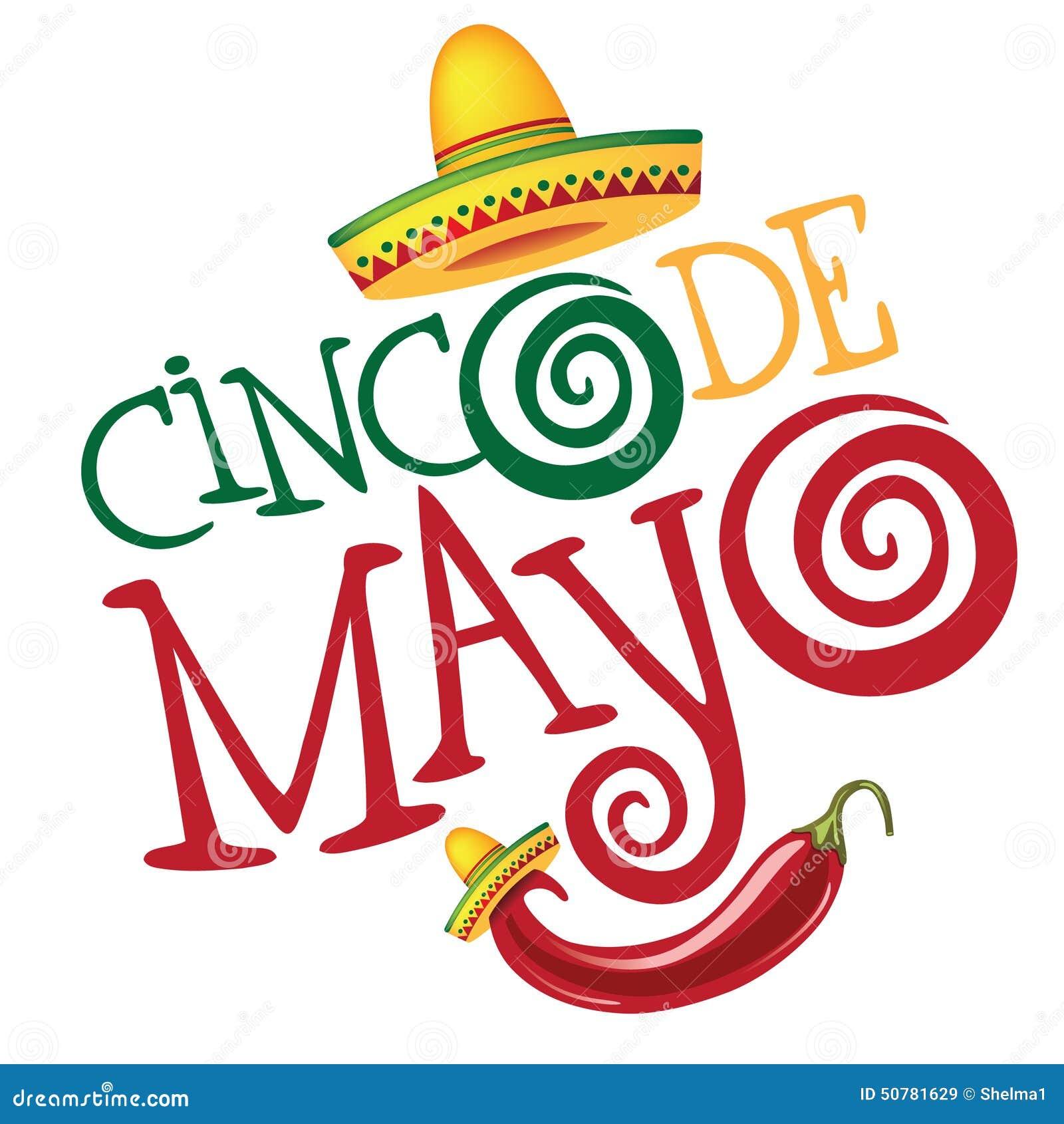 Progettazione di iscrizione disegnata a mano di Cinco De Mayo