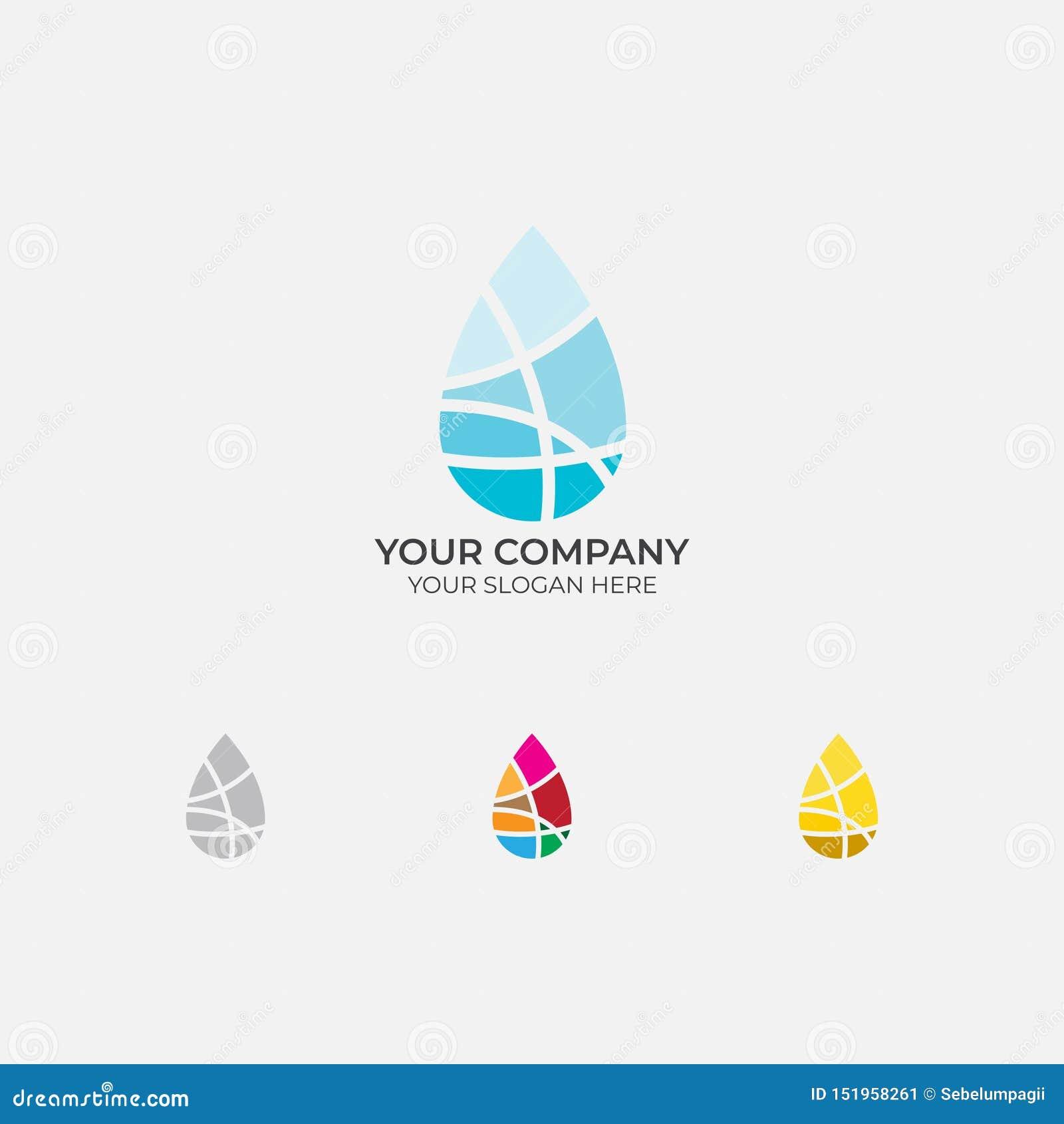 Progettazione di logo della goccia di acqua