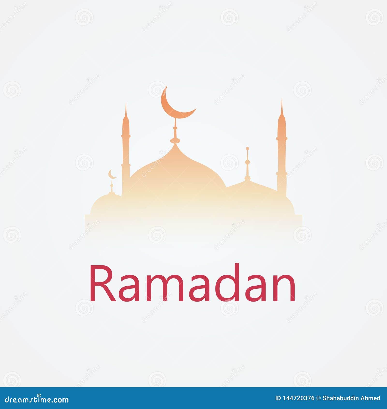 Progettazione di logo di feste Ramadan Kareem