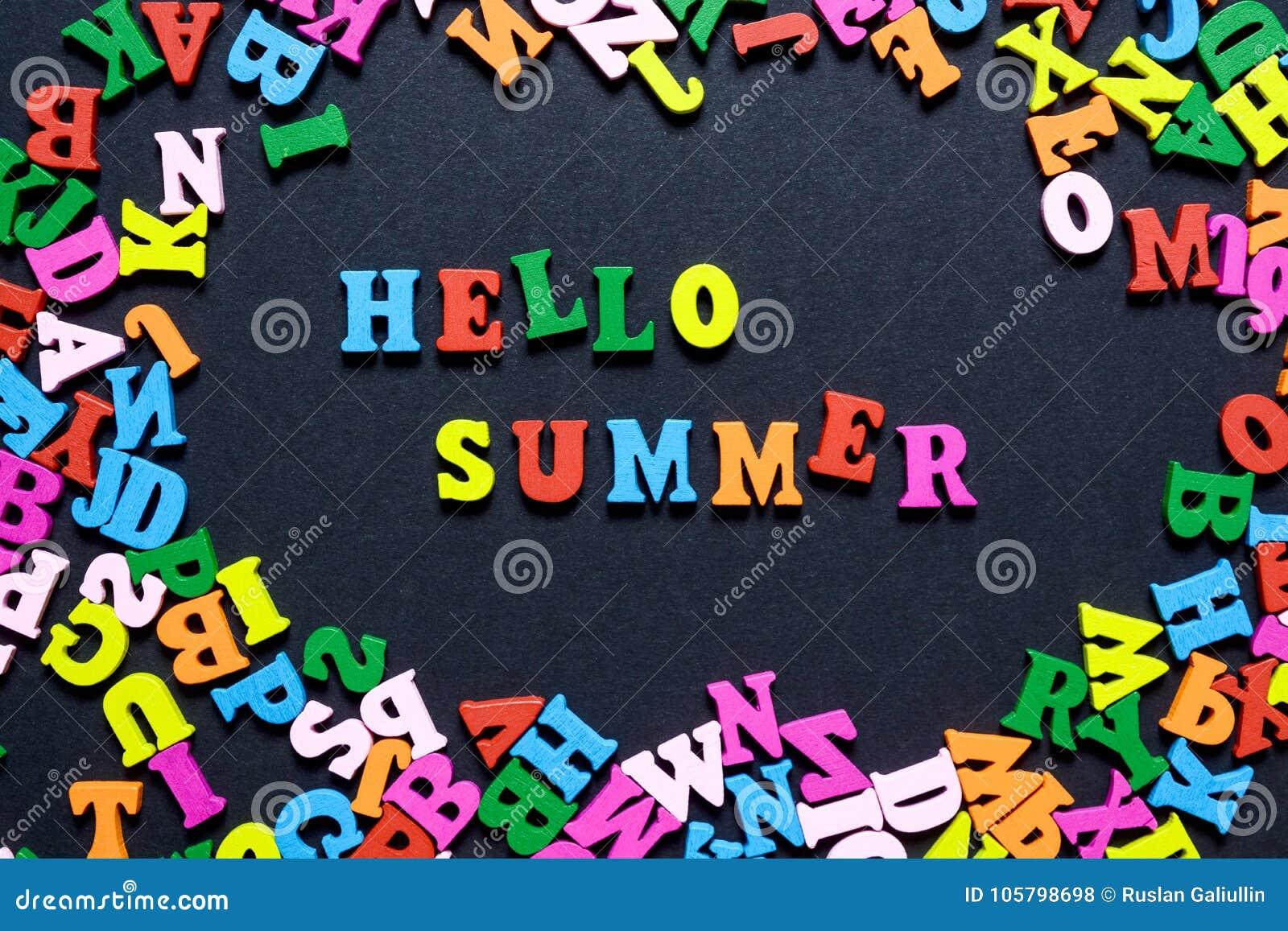 Lettere Di Legno Colorate : Progettazione di massima la parola ciao su estate delle dalle