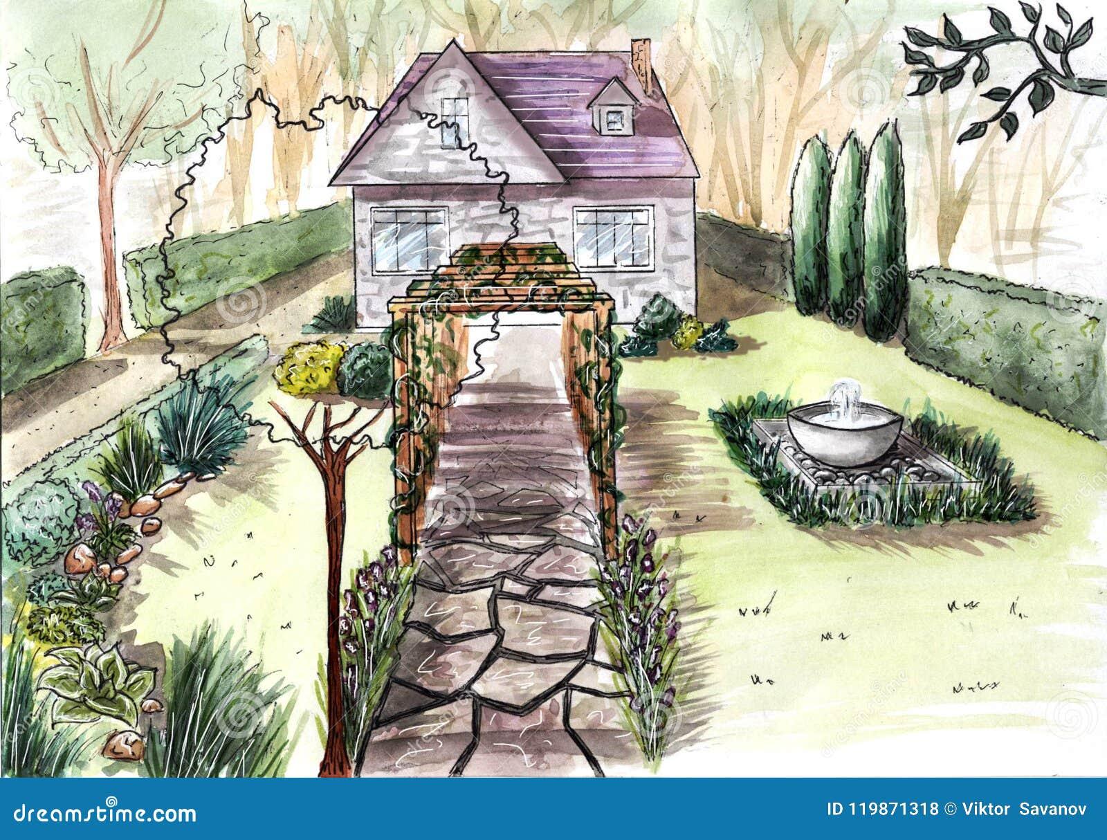 Architettura Del Verde progettazione di piano di architettura del paesaggio nel