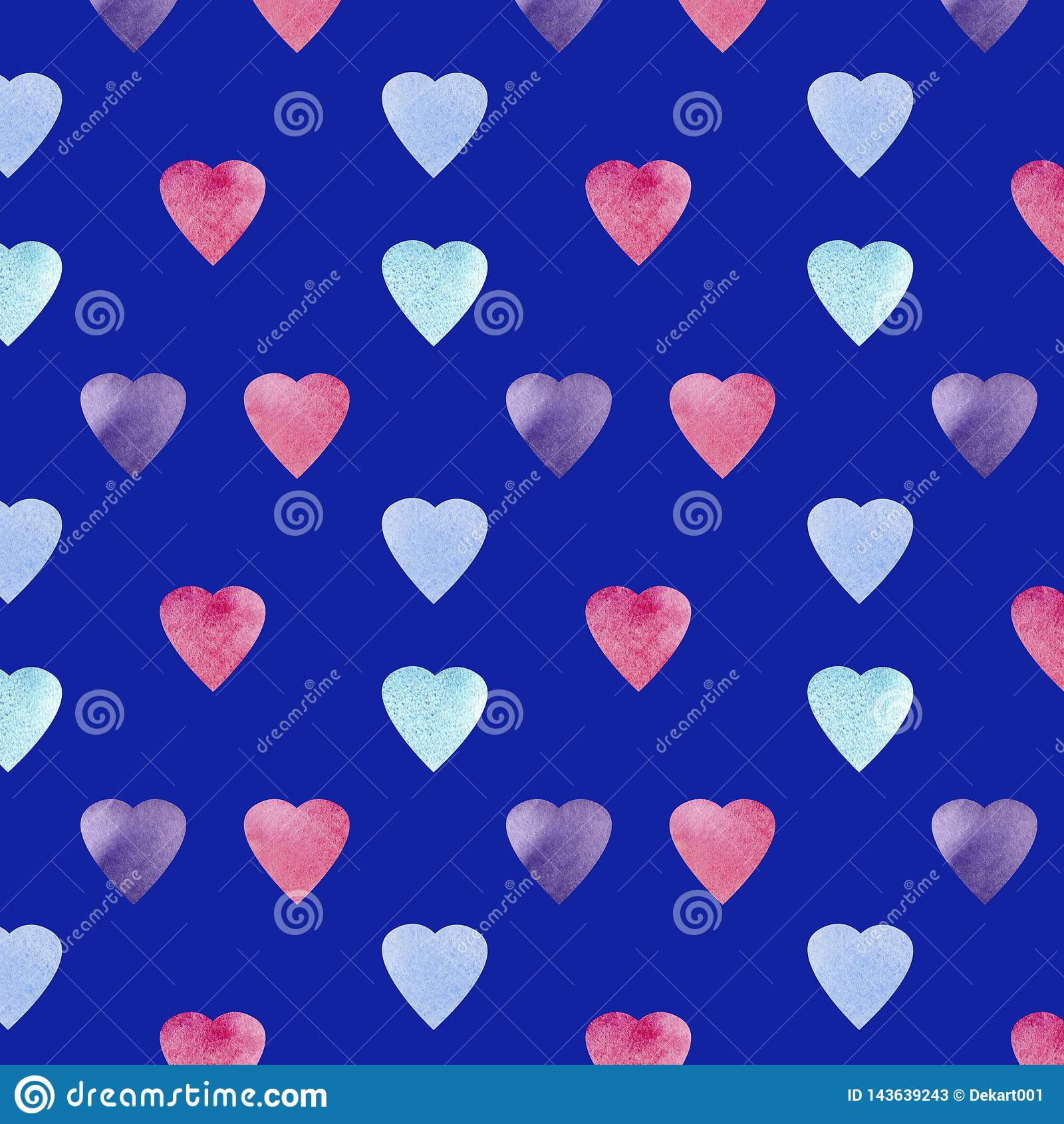 Progettazione di simbolo di forma del cuore Modello dei cuori di Colorfui Fondo senza cuciture di giorno di biglietti di S. Valen