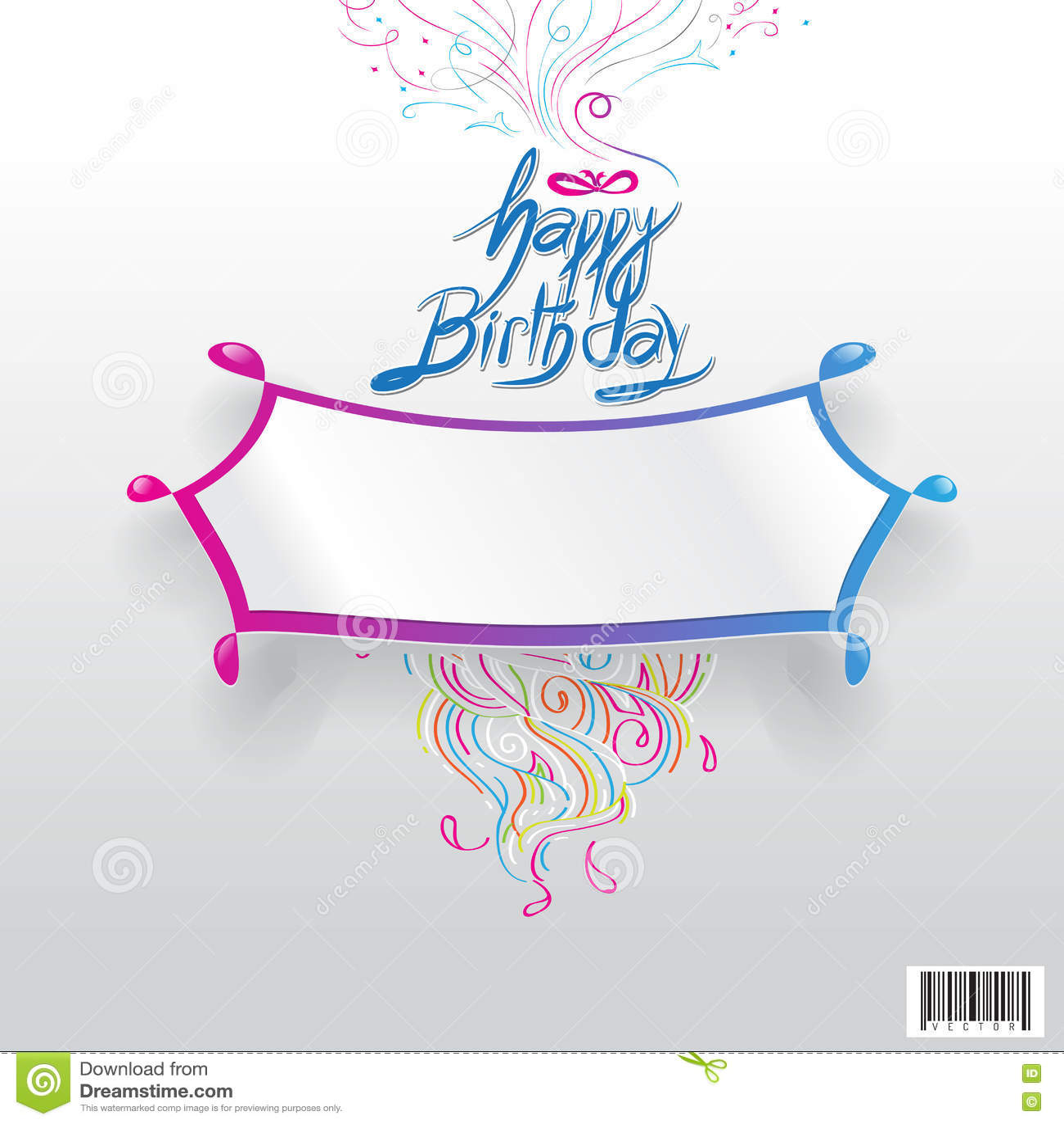 Progettazione Di Tipografia Di Buon Compleanno Con Spazio Per Il