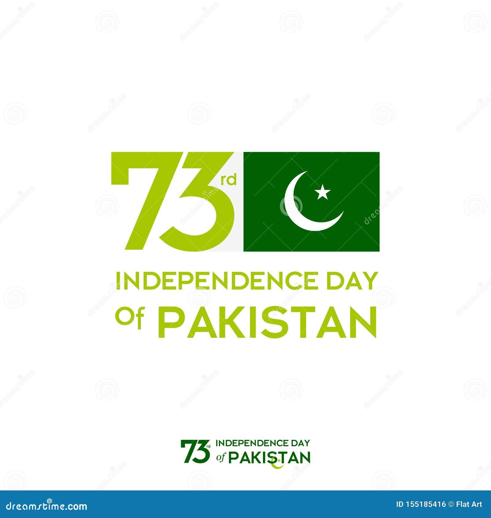 Progettazione di tipografia di festa dell indipendenza del Pakistan Tipografia creativa della settantatreesima festa dell indipen