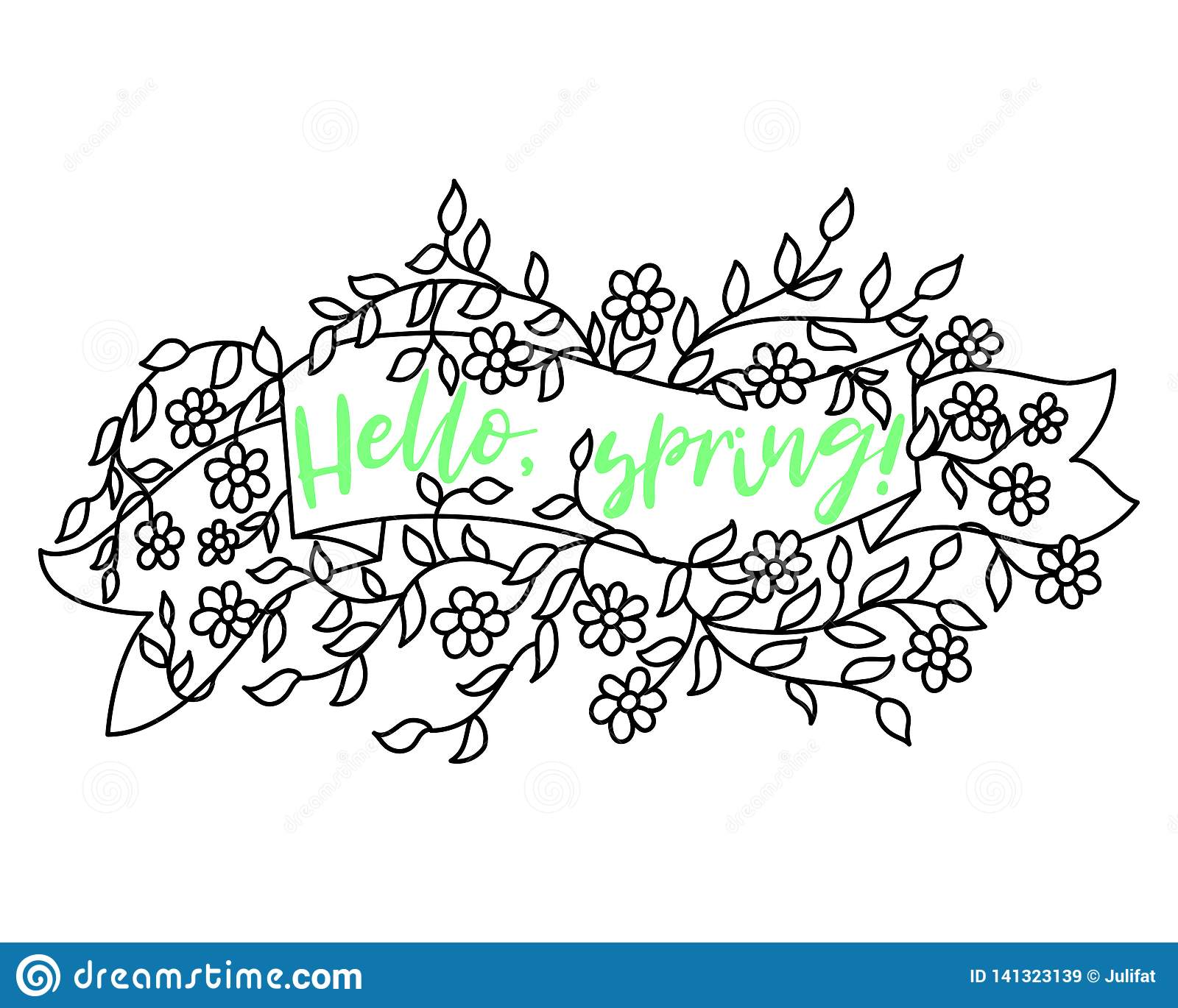 Progettazione di vendita dell insegna della primavera Etichetta di vettore di vendita di stagione con il fiore Priorità bassa flo
