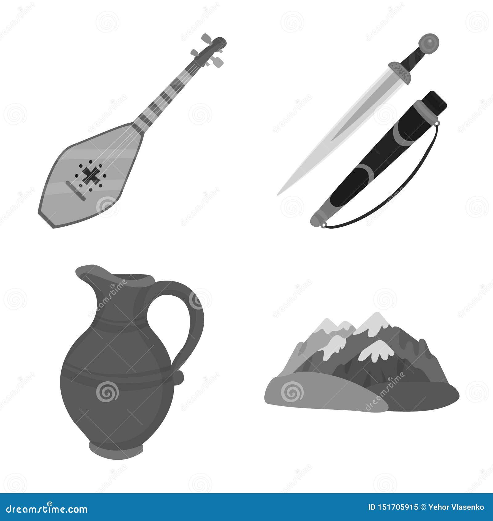 Progettazione di vettore degli attributi e dell icona di turismo Metta degli attributi e dell illustrazione di riserva nazionale