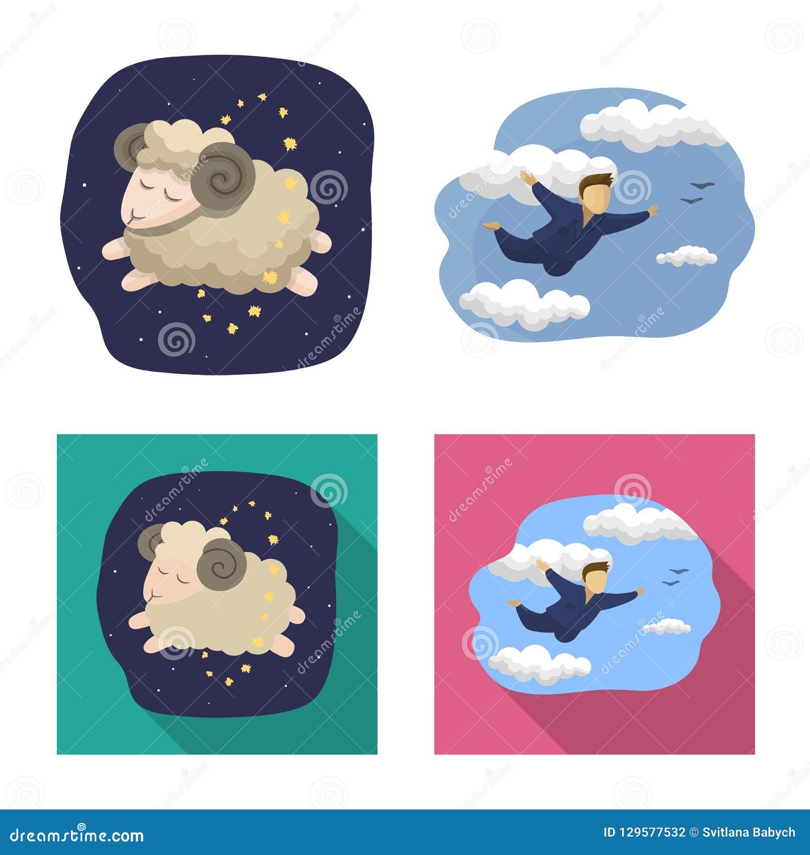 Progettazione di vettore dei sogni e del segno di notte Raccolta dei sogni e dell illustrazione di riserva di vettore della camer
