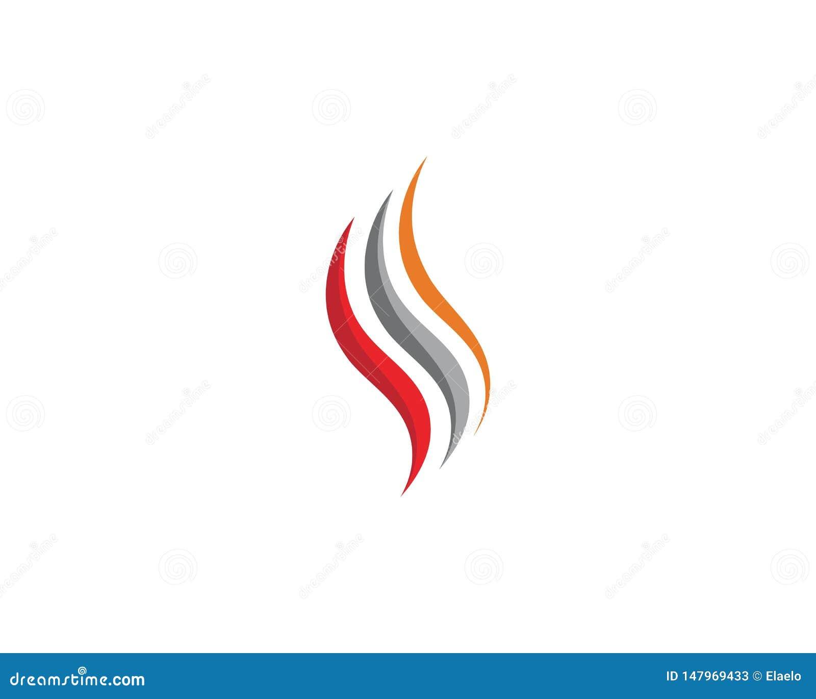 Progettazione di vettore del fuoco dell icona della fiamma